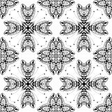 Lace seamless pattern, monochrom colors elegant print Royalty Free Stock Image