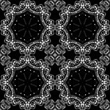 Lace seamless pattern, monochrom colors elegant print Stock Photography