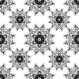 Lace seamless pattern, monochrome colors elegant print Royalty Free Stock Image