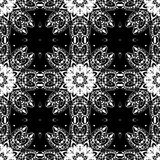 Lace seamless pattern, monochrome colors elegant print Stock Images