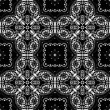 Lace seamless pattern, monochrome colors elegant print Royalty Free Stock Photo