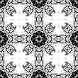 Lace seamless pattern, monochrome colors elegant print Stock Photo