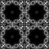 Lace seamless pattern, monochrome colors elegant print Royalty Free Stock Photos