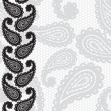 Lace seamless pattern with paisley Royalty Free Stock Images