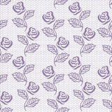 Lace floral seamless pattern Royalty Free Stock Image