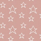 Lace seamless pattern with stars Stock Photos