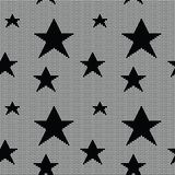 Lace seamless pattern with stars Stock Image