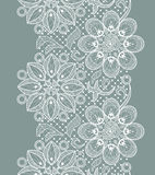 Lace Seamless Pattern. Vector Old Lace Seamless Pattern, ornamental flowers vector illustration