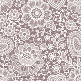 Lace seamless pattern. Stock Photography