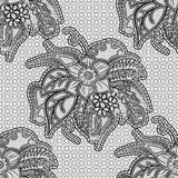 Lace seamless texture with large flowers. Repetitive net pattern. Stock Image
