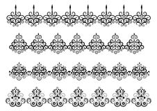 Lace Set. Set of Lace  isolated Vector Stock Photo