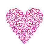 Lace silhouette heart Stock Photography