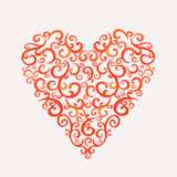 Lace silhouette heart Stock Photos