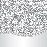 Lace, silk and pearl royalty free illustration