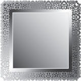 Lace Silver Frame Stock Photography