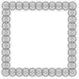 Lace silver frame Royalty Free Stock Photography