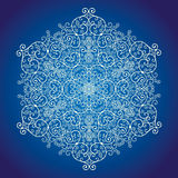 Lace snowflake Stock Image