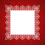 Lace square frame Stock Images