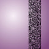 Lace stripe on violet background Stock Image