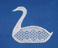 Lace Swan. Royalty Free Stock Photos