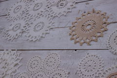 The lace on the table Royalty Free Stock Image