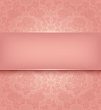 Lace template, ornamental pink flowers background Royalty Free Stock Image