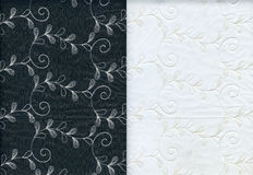 Lace textures. A set of two lacy textures is not black and white background Royalty Free Stock Photos