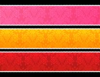 Lace trim banners Stock Images