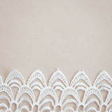 Lace trim vintage background Royalty Free Stock Photos
