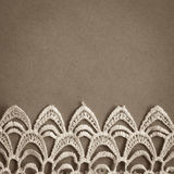 Lace trim vintage background Stock Photo