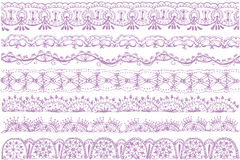 Lace trims. Royalty Free Stock Images