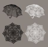 Lace Umbrella. Digital object for your artistic creations Stock Photo