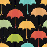 Lace umbrella on the dark background. Lace colorful umbrella on the dark background royalty free illustration