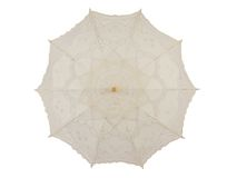 Lace umbrella Stock Photos