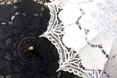 Lace umbrella in venice. Can used as a background Stock Photo