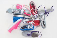 Lace up shoes Royalty Free Stock Photography