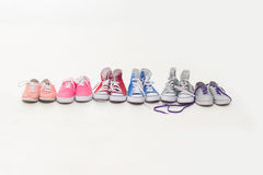 Lace up shoes Stock Photo