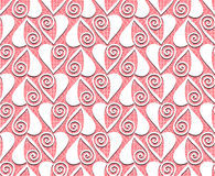 Lace valentines day heart love seamless pattern Royalty Free Stock Photo