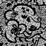 Lace vector fabric seamless pattern Stock Image