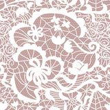 Lace vector fabric seamless pattern Stock Images
