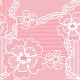 Lace vector fabric seamless pattern Royalty Free Stock Photo