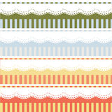 Lace Vector Illustration Design with straight line in pastel color background. Royalty Free Stock Images