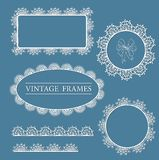 Lace vector label Royalty Free Stock Photo