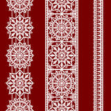 Lace Vertical Seamless Pattern. Ribbons. Stock Image