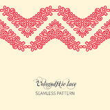 Lace Vologodskie. Seamless border from Vologodskie lace.Ornamental lace pattern for wedding invitations and greeting cards Royalty Free Stock Photos