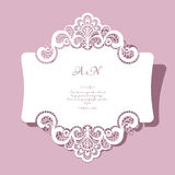 Lace wedding card Royalty Free Stock Photos