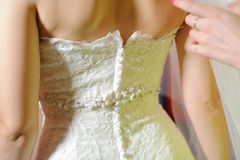 Lace of Wedding Dress Royalty Free Stock Images