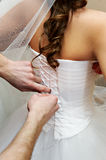 Lace wedding dress bride Royalty Free Stock Images