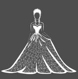 Lace wedding dress royalty free stock photography