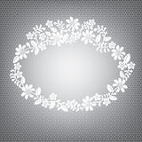 Lace white frame Stock Photography